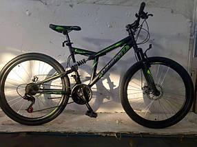 """Велосипед гірський двопідвісний Dinamic 26"""", рама 18,5"""", FRD BLACK-YELLOW"""