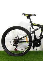 """Велосипед горный двухподвесный Dinamic 26"""", рама 18,5"""", FRD BLACK-YELLOW, фото 3"""