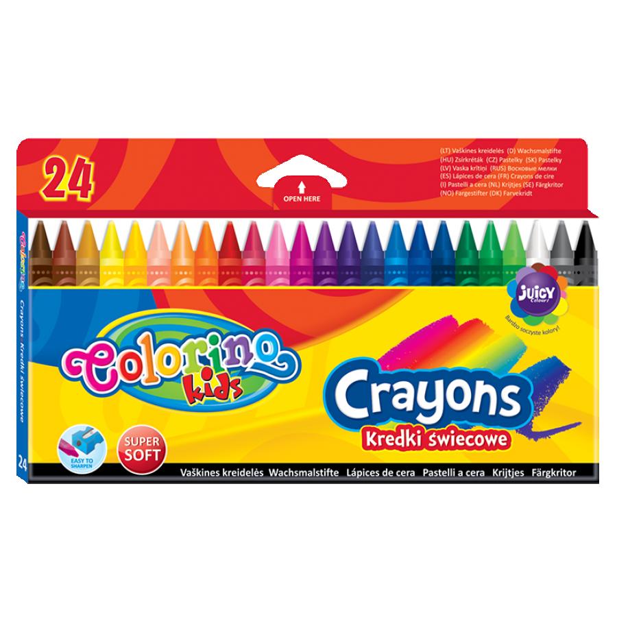 Восковые мелки 24 цвета, Colorino