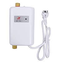Мгновенный проточный водонагреватель Xinye XY-FG небольшой электрический для кухни энергия 3800 Вт IPX4