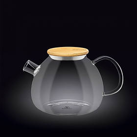 Чайник-заварник Wilmax Thermo 1200 мл с фильтром-спираль и бамбуковой крышкой 888824 / A WL