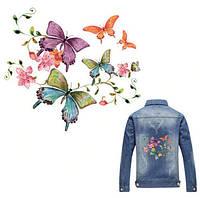 Термонаклейка аппликация для одежды Бабочки