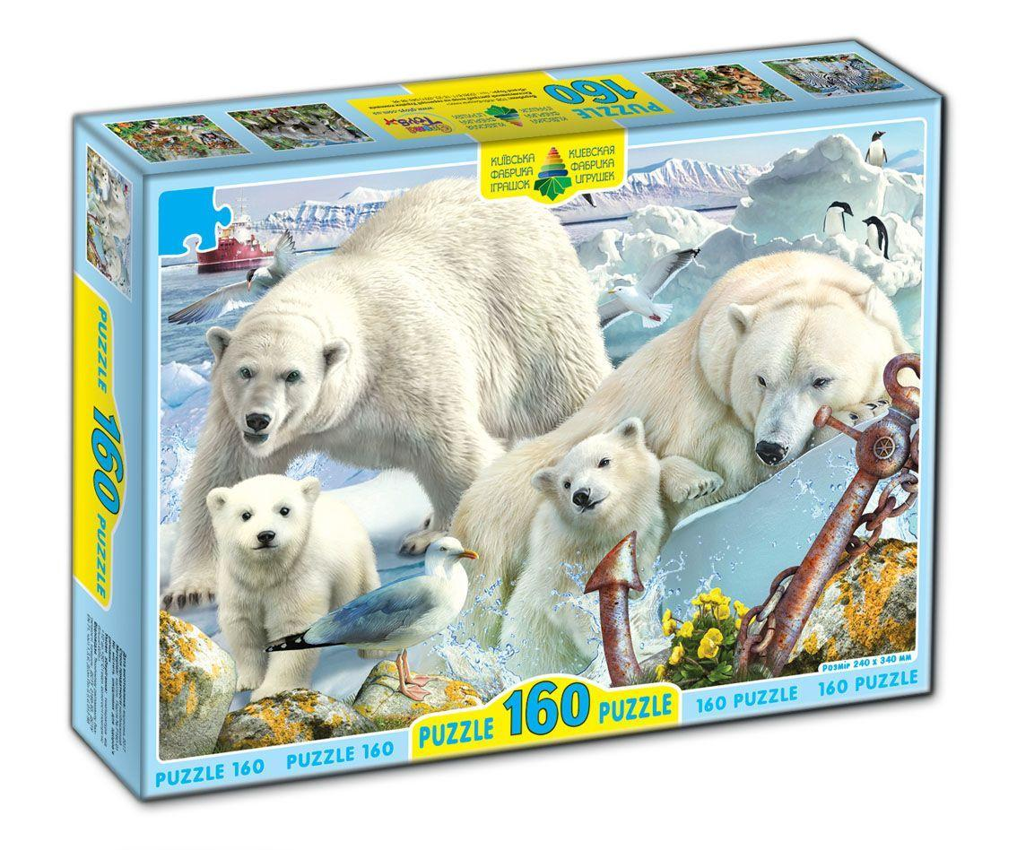 Пазл Белые медведи 160 элементов