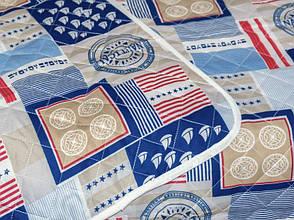 Одеяло-покрывало Leleka-textile Евро 200*220 см поликоттон/холлофайбер стеганое летнее П404, фото 3