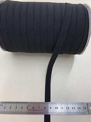 Резинка бельевая 10 мм, в боб 100 м-черная, фото 2