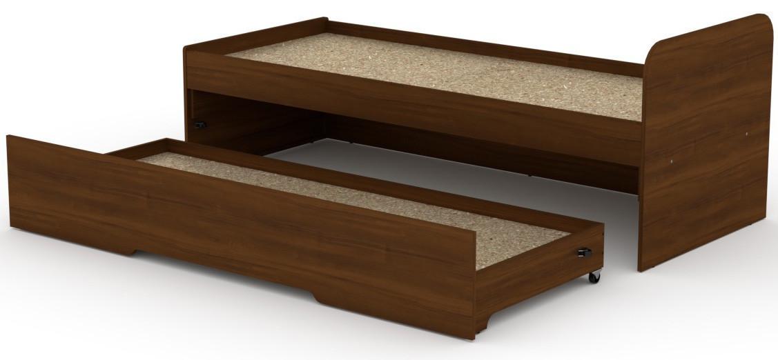 Кровать с выдвижным спальным местом КОМПАНИТ Кровать-80+70 Орех экко (204.2х84.6х75)
