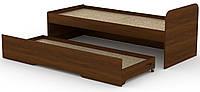Кровать с выдвижным спальным местом КОМПАНИТ Кровать-80+70 Орех экко (204.2х84.6х75), фото 1