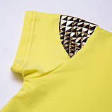 Летняя футболка для девочки Shining star, белая, желтая, фото 4