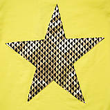 Летняя футболка для девочки Shining star, белая, желтая, фото 5