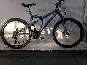 """Велосипед гірський двопідвісний Dinamic 26"""", рама 18,5"""", FRD GREY, фото 2"""