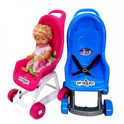 Кукольная коляска Kinderway KW-37-001 игровая коляска для девочки пластиковая