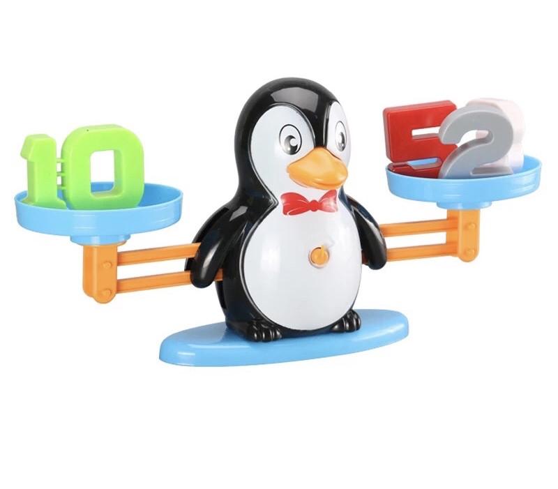 Математические весы балансир Пингвин