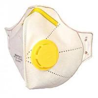 Респиратор маска Микрон FFP2 с клапаном желтым (Микрон-2)