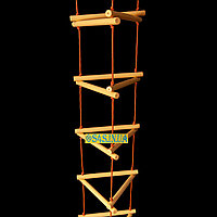 Лестница подвесная детская верёвочная лестница для шведской стенки деревянная «ЁЛОЧКА. ЭЛИТ», золото