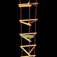 Сходи дитяча, підвісна, дерев'яна «ЯЛИНКА. ЕЛІТ», золото