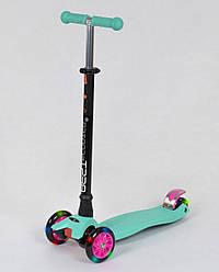 Трехколесный детский самокат Scooter MAXI - Ментол