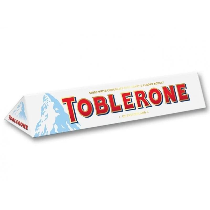 Швейцарский белый шоколад Toblerone с медом и миндальной нугой 100г
