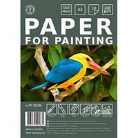 Папір для малювання універсальний А3 10 аркушів в пакеті (200г/м2) РС3510Е