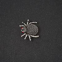 Брошка Павук тематична прикраси на Хелловін маленька 2 см Mir-11717