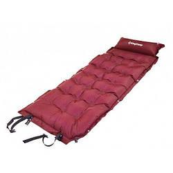 Самонадувающийся коврик  KingCamp Base Camp Comfort (KM3560) wine red