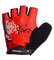Велоперчатки L перчатки для велосипеда  PowerPlay 002 B красные