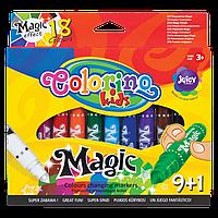 """Фломастеры """"Magic"""", меняют цвет, 9 штук+1, 18 цветов, Colorino, фото 1"""