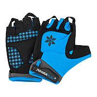 Перчатки для велосипеда женские ( велоперчатки )  PowerPlay 5284 D голубые S