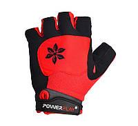 Велосипедные перчатки женские ( велоперчатки)  PowerPlay 5284 A красные S