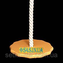 Детские качели из дерева тарзанка качеля подвесная детская «ЭЛИТ», гимнастическая, для шведской стенки, золото