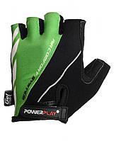 Перчатки для велосипеда велоперчатки PowerPlay 5024 B черно- зеленые S