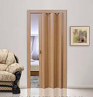 Дверь гармошка КЛЕН глухая, складная, двери  раздвижные межкомнатные ПВХ, скрытые двери пластиковые Folding