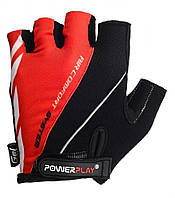 Перчатки для велосипеда велоперчатки  PowerPlay 5024 C черно - красные XS