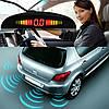 Парктроник автомобильный UKC на 8 датчиков + LCD монитор (черные датчики) - Фото