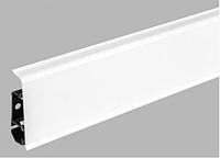 Плинтус Dekor Plast LL001 Белый пластиковый, плинтус напольный, с кабель каналом, плинтус из двух частей