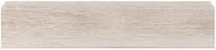 Плинтус Dekor Plast LL002 Мапле пластиковый, плинтус напольный, с кабель каналом, плинтус из двух частей