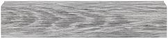 Плинтус Dekor Plast LL007 Ива Серебристая пластиковый, напольный, с кабель каналом, плинтус двухсоставной