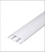 Наличник 001 Білий 70мм з кабель каналом Ідеал, прихований монтаж, напівкруглий наличник пластиковий Ideal