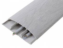 Наличник 214 Дуб сірий 70 мм з кабель каналом Ідеал,прихований монтаж, напівкруглий наличник пластиковий Ideal