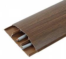 Наличник 291 Орех 70 мм с кабель каналом Идеал,скрытый монтаж, наличник пластиковый полукруглый Ideal