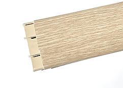 Наличник 213 Дуб північний 70 мм з кабель каналом Ідеал,прихований монтаж, напівкруглий наличник пластиковий Ideal