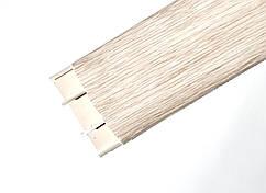 Наличник 262 Клен Вермонт 70 мм з кабель каналом Ідеал,прихований монтаж, напівкруглий наличник пластиковий Ideal