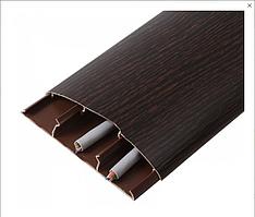 Наличник 301 Венге 70 мм з кабель каналом Ідеал,прихований монтаж, напівкруглий наличник пластиковий Ideal