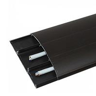 Наличник 302 Венге Темний 70 мм з кабель каналом Ідеал,прихований монтаж, напівкруглий наличник пластиковий Ideal