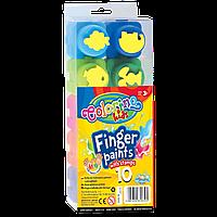 Пальчиковые краски-пазлы со штампами, 10 цветов, Colorino