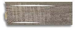 Плінтус пластиковий Plint AM6 25 Глянсовий, з м'якими краями, скабель каналом, для плитки, блискучий
