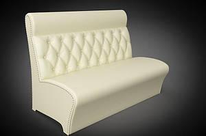 Прямий диван Sentenzo Лассо білий з високою спинкою кожзам