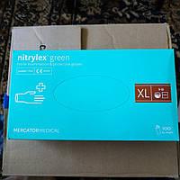 Перчатки нитриловые зелёные XL