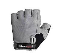 Велоперчатки женские перчатки для велосипеда PowerPlay 5295 серые S