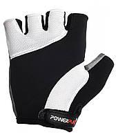 Перчатки для велосипеда велоперчатки PowerPlay 5041 черно- белые M