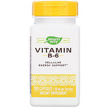 "Вітамін B6, nature's Way ""Vitamin B-6"" 50 мг (100 капсул)"